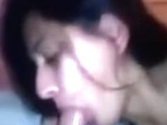 Indian gal cum in throat