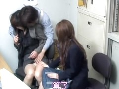 Japanese MILF sucks on a dong in kinky spy cam sex video