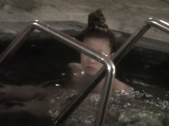 Japan doll swimming in the pool after a hot sauna nri065 00