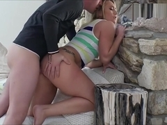 Sexy Blonde Gf Aj Applegate Anal Pounded While Being Filmed