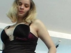 Tempting lapdance by natural czech chick