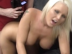 Another blonde babe tricked by the fake casting agent