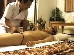 Japanese girl gets an erotic massage on a spy camera