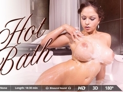 Adrian Dimas  Marta La Croft in Hot Bath - VirtualRealPorn