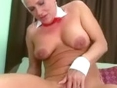 Very pretty mom with saggy tits & pump tasty cunt