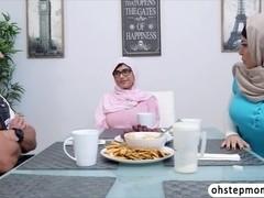 Mia Khalifas threesome hot sex scene with her Stepmom Julianna