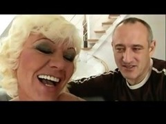 Shaggy Granny with Male Pornstar