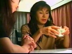 Hot Japanese sluts and a dildo dong in action