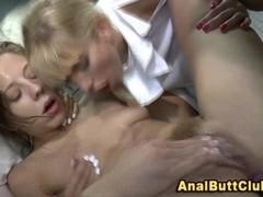 Dildo wielding fetish nun