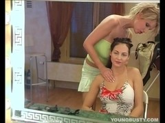 Young busty Jennifer gets slit toyed