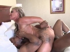 Black dick fucks blonde
