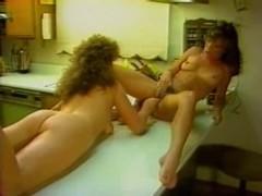 Hardcore lesbian sex in this amazing vintage porno