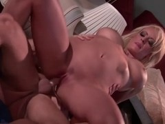 Breasty golden-haired StormyD hawt sex