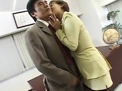 Japanese Lady Boss Horny at the Office