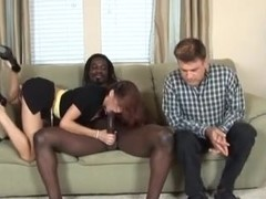 Despondent Husband watches Wife Fuck a Black Guy MC169