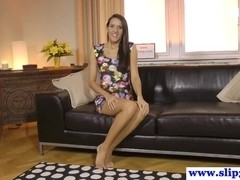 Teasing glam euro beauty pov riding dick