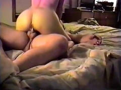 Wife with amazing butt riding the shit out of him