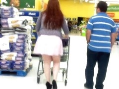 Pawg With A Slutty Walk In A Mini Skirt.