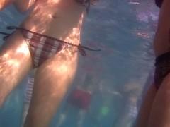 Underwater Hidden Two Milfs