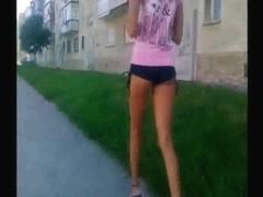Teen In Minishort HOT ASS