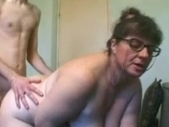 Big tit granny and the handyman