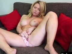 Busty Madison Masturbating Her Slit