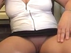 This old lady has no panties on her