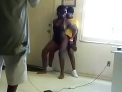 Black chicks twerking with bubble bums