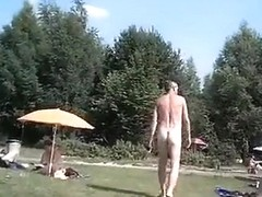 Nudist weekend at the lake with lots of naked people
