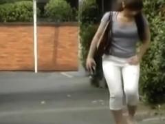 Public pissing goddess caught on camera