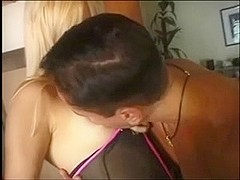 A very cute blond ladyman two