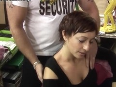 Marion Kuhl in Security Guy Gets Paid With Sex - FunMovies