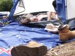 Aussie babe gets creampie