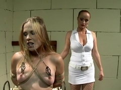 Submissive Laurah has a striking dominatrix satisfying her desires