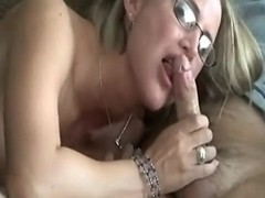 Sexy blonde gets naughty in kitchen
