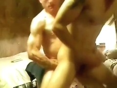 Randy tonys huge cock drilling