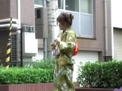 Delightful little geisha experiences great sharking affair in the public
