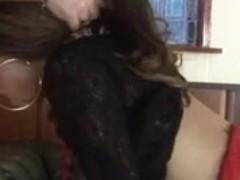 British bitch Keisha receives screwed in dark nylons