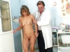 Mature Vladimira gets her pussy properly gyno examined