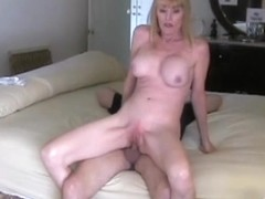 Mother I'd Like To Fuck Takes a Creampie from Youthful Boy-Friend