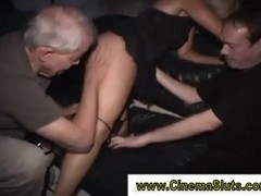 Real slut gets licked as she sucks cock