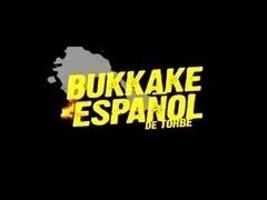 Spanish bukkake hotty