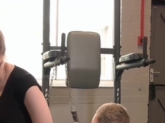 PURE XXX FILMS Stunning Stella Cox banged at the gym