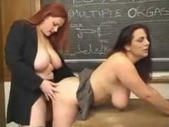 curvy natural lesbian sex-education