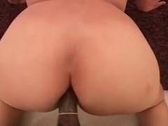 Biracial cutie gets a BBC in her ass