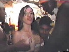 Vintage orgy video in public with  horny skinny sluts