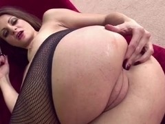 Nasty GF toying her ass and muff