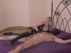 Superior looking Bitch Goddess ties thrall for raunchy meeting