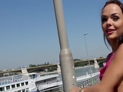 Talented Hungarian Babe Fucks In Public