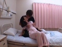 Japanese AV Model is a wild nurse giving hot blowjob